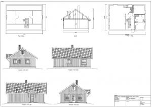 Plan snitt og fasadetegning.